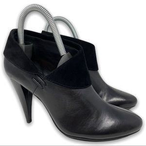 COACH Annika Ankle Bootie Black Leather